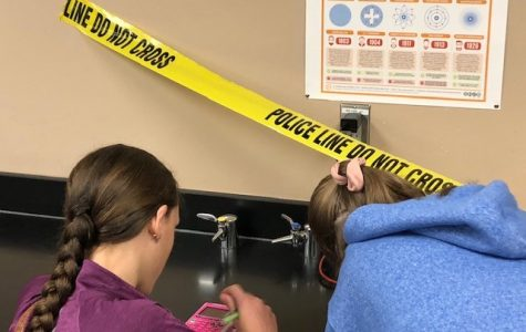 Students Solve Crimes Using Mock Scenarios
