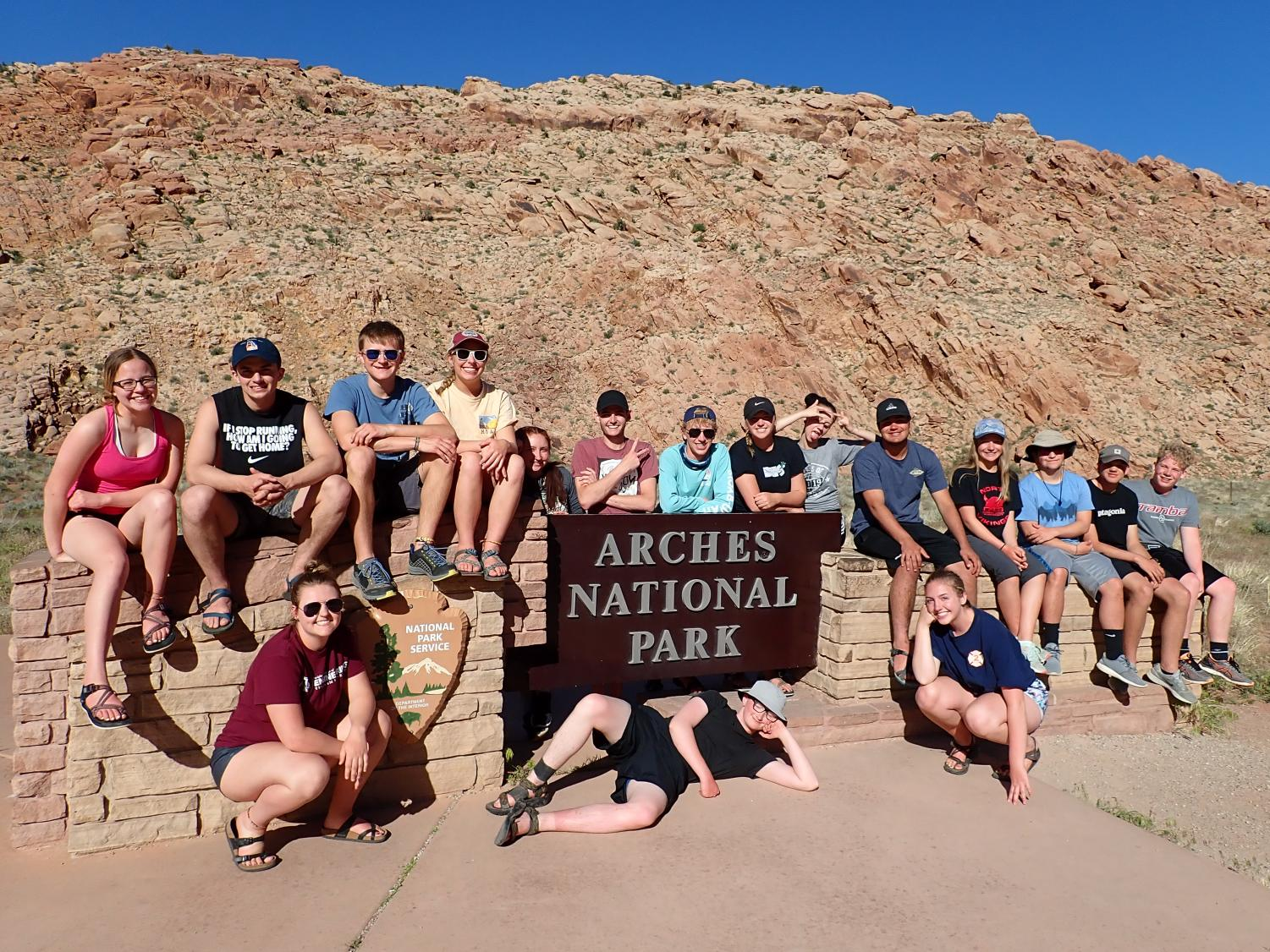 Sixteen Doherty students participated in the Doherty Science Spring Field Study to Arches National Park in Utah.  While hiking and whitewater rafting through the area, they studied the unique geology of the area and learned about the importance of the Colorado River in the southwest and the issues with its overuse.