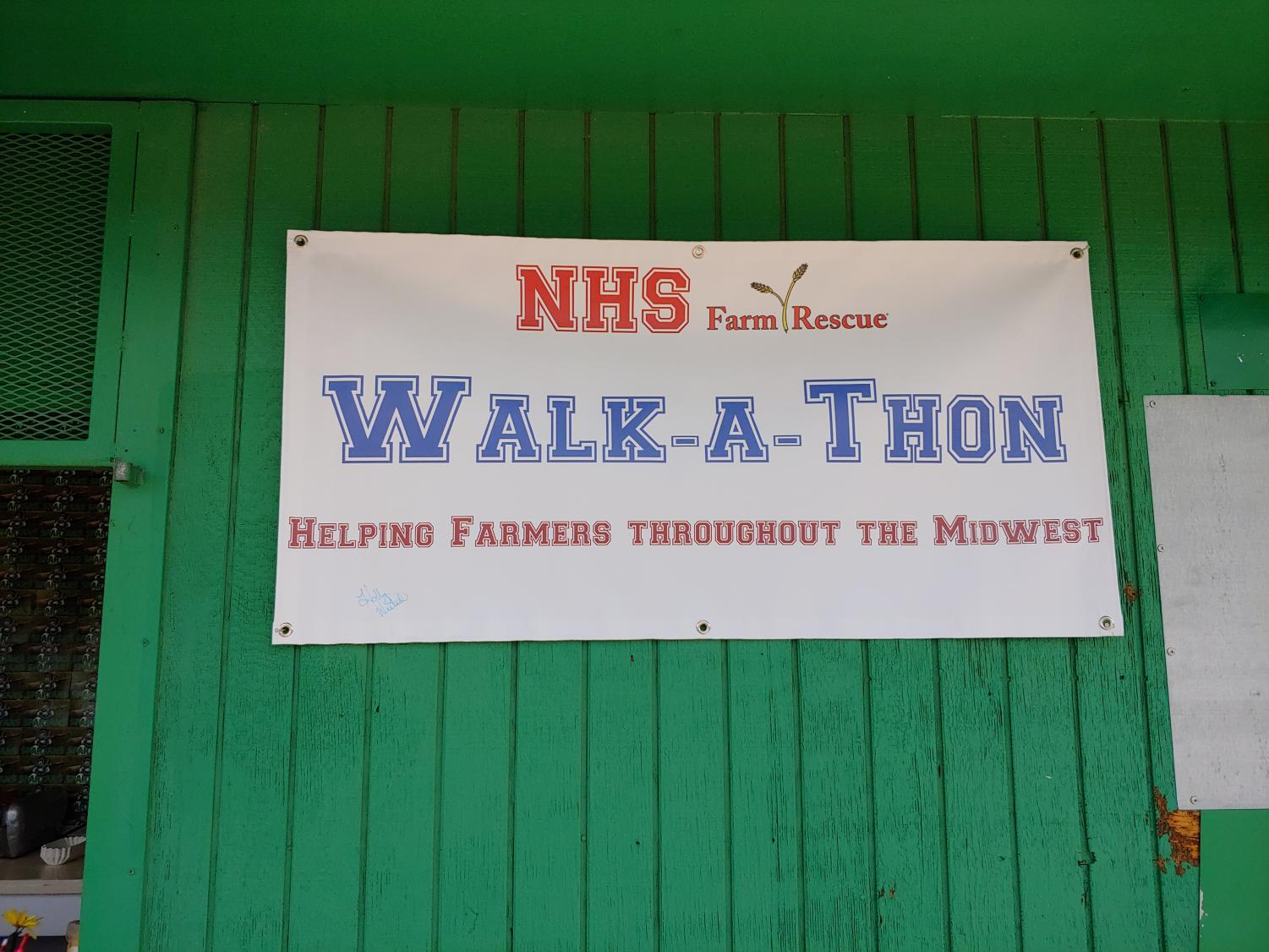 Science teacher Hollly Westad organized the Walk-a-Thon to raise money for farmers thoughout the midwest.