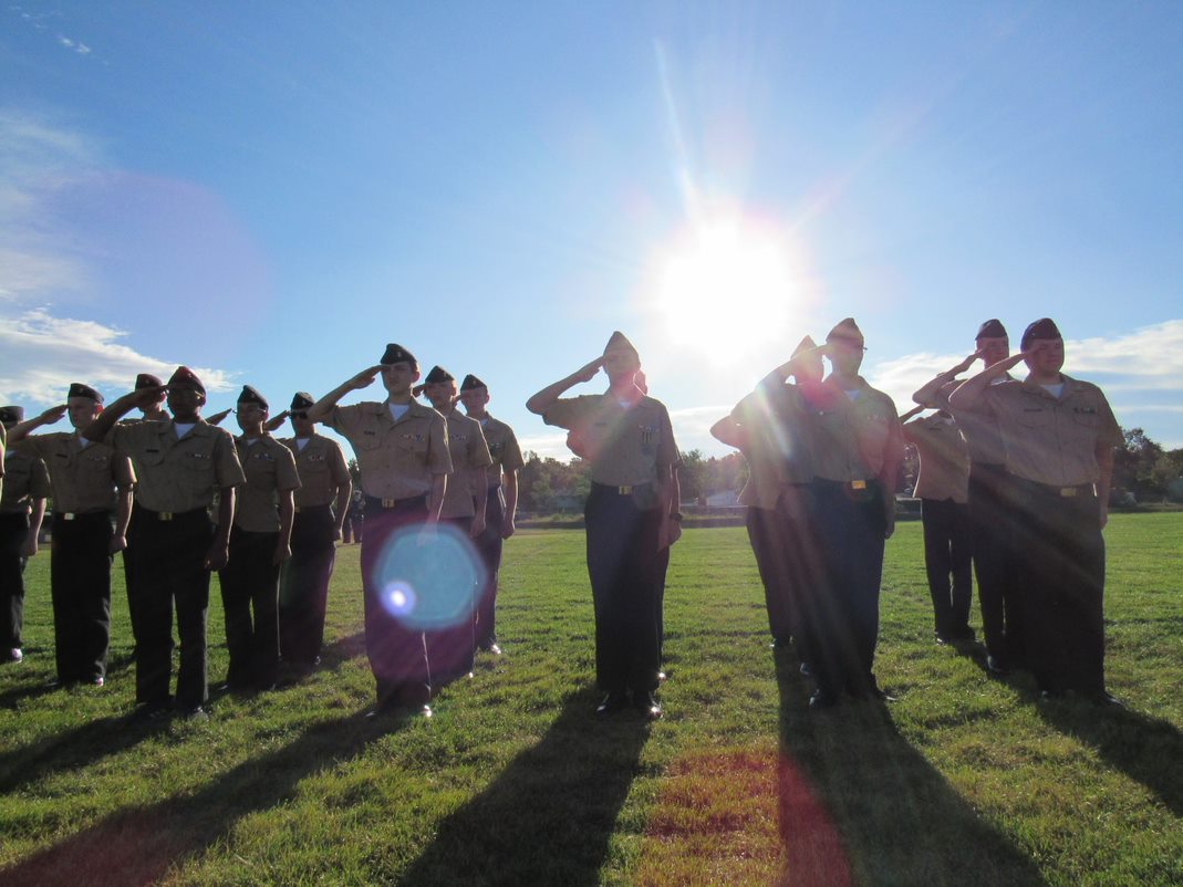 During the morning of September 11, NJROTC members met for an early morning salute to remember the victims of 9/11.