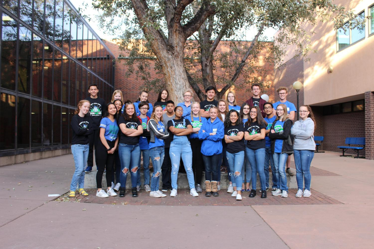 FBLA of the 2019-2020 school year poses for their yearbook photo.