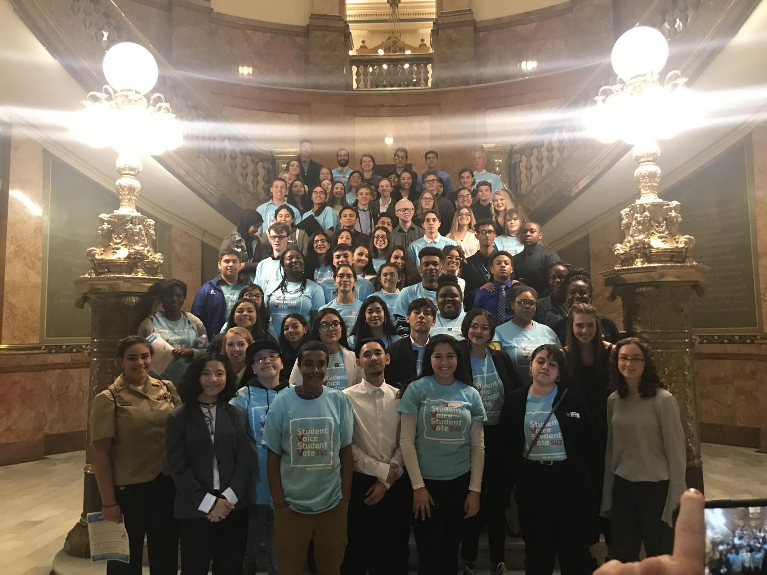 CYC students from around the state gathered at Lobby Day at the state capital last spring.