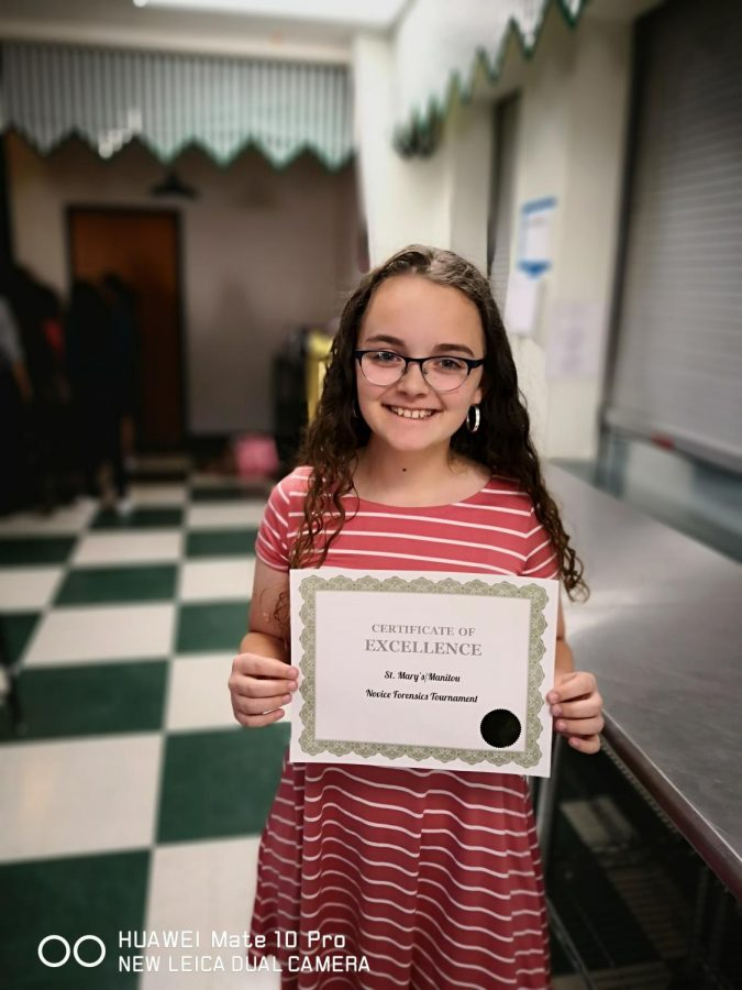 Freshman Anika Barr has placed at two different meets for the Doherty Spartans in Original Oratory. The 9th grader has experience from middle school, and she really loves to compete.