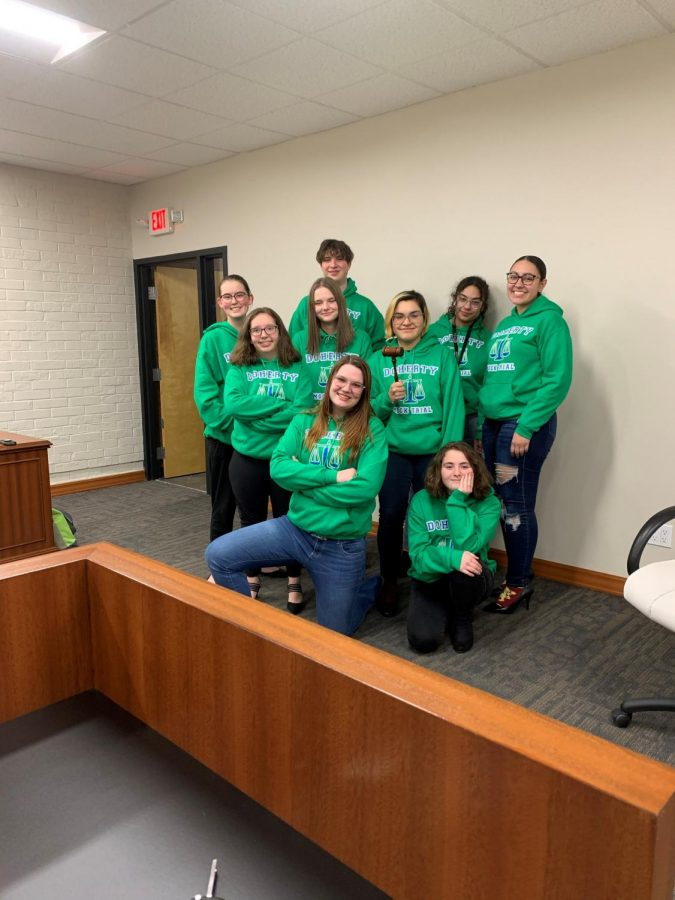 Doherty's Mock Trial team starts competition for Regionals on 2/28/20.