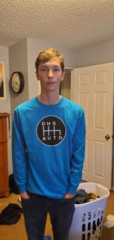 Isaac Courtright sports his Doherty Auto shirt in this pic.