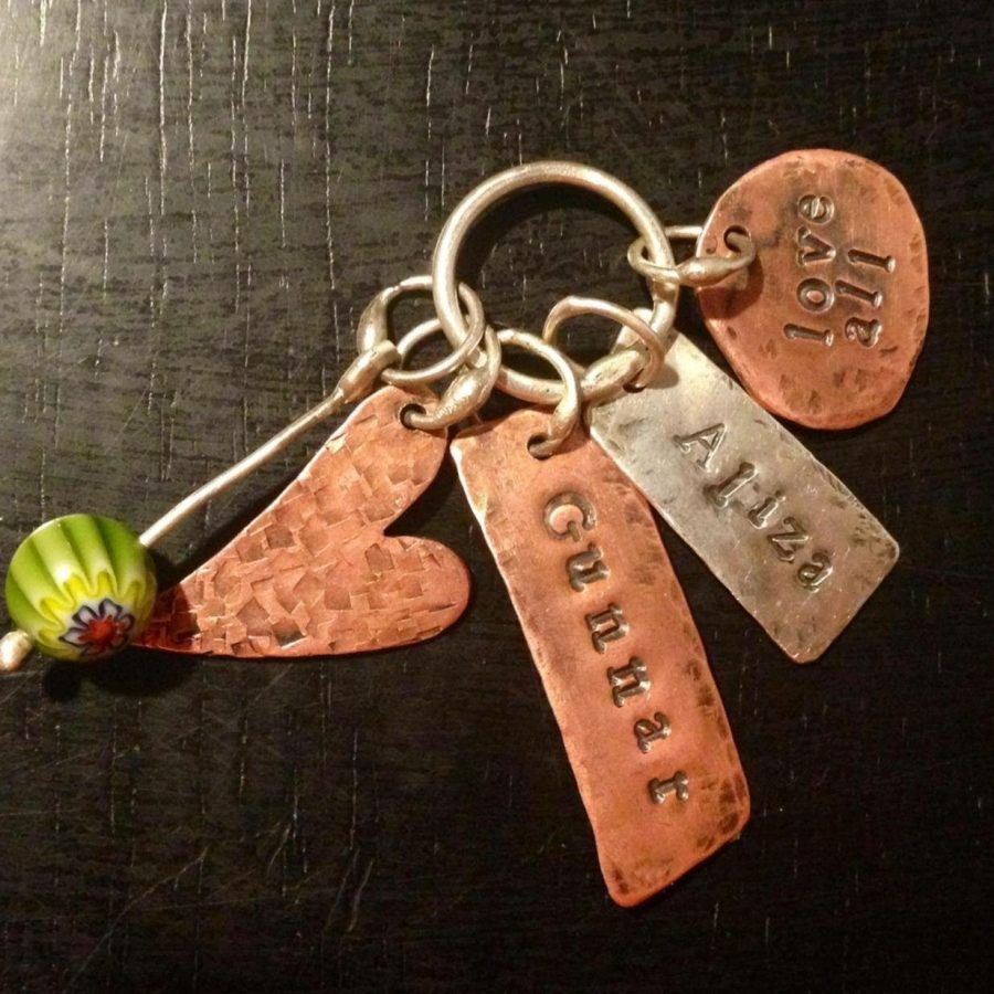 The+keychain+pictured+is+one+of+Mrs.+Stevens%27+favorite+metalsmithing+creations.