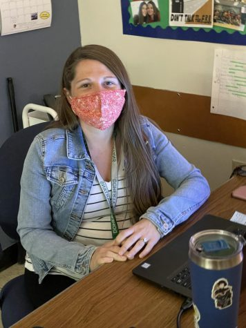 English department chair Nicole Vollmer has adapted to pandemic needs, but looks forward to using the teacher tools she knows are best for students.