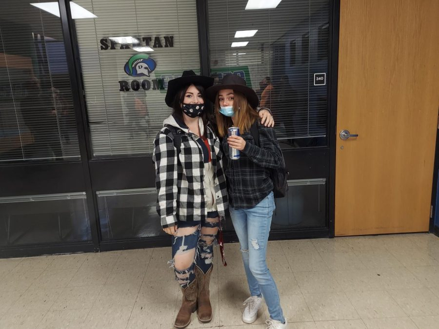 Two Students Celebrating Spirt Week