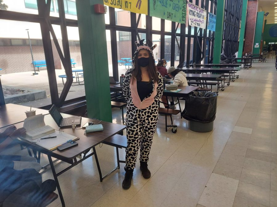 Doherty High School Student dress out for sprit week in PJ